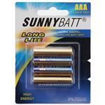 Sunny Batt Alkaline Long Life AAA Battery Pack of 4