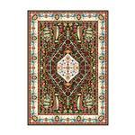 فرش ماشینی الماس کویر طرح ستاره سهیل کد 2606 زمینه قهوه ای