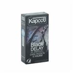 کاندوم 12 تایی کاپوت مشکی تاخیری سرد KAPOOT-BLACK DELAY ICE SENSATION