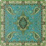 رومیزی مربع ترمه طرح سالار کد ۸۱۴ Panel square desktop