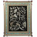 تابلو قلم زنی و خاتم گالری گوهران مدل مرغ بهشت-1228