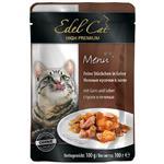 پوچ ایدل کت گربه محتوی گوشت مرغابی و جگر در ژله 100 گرمی