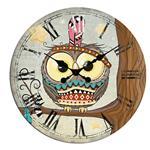 ساعت دیواری شیانچی گرد طرح جغد کد 10010127