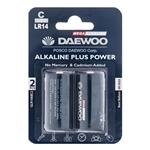 Daewoo Alkaline plus Power C Battery Pack of 2
