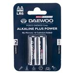Daewoo Alkaline plus Power AA Battery Pack of 2