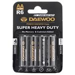 Daewoo Super Heavy Duty AA Battery Pack of 4