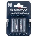Daewoo Alkaline plus Power AAA Battery Pack of 4
