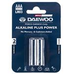Daewoo Alkaline plus Power AAA Battery Pack of 2