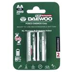 Daewoo Ni-MH Rechargeable AA Battery Pack of 2