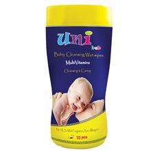 دستمال مرطوب مولتی ویتامین کودک یونی بب سیلندری 70 تایی
