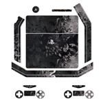 MAHOOT Black Wild-flower Texture Sticker for PS4 Slim
