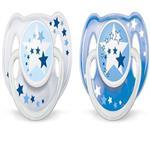پستانک نوزاد شب تاب دوتایی 6-18 ماه مدل ستاره Philips Avent