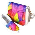 ست کیف و کفش روشا مدل Rainbow