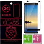 LION Short 3D Full Glue Glass Screen Protector For Samsung Note 8
