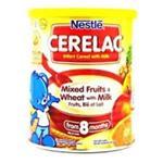 سرلاک شیر و گندم به همراه میوه نستله nestle