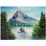 تابلوی نقاشی گالری باساز مدل سپیده در دریاچه سد کرج