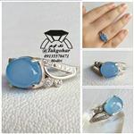 انگشتر زنانه عقیق آبی