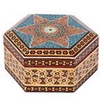 جعبه جواهرات خاتم کاری گالری گوهران مدل فروزان کد 1356
