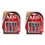 باتری  قلمی AEG مدل ALKALINE بسته 8 عددی