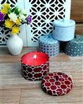 Talent Fareast شمع قوطی فلزی - عطر گل رز - بیش از 20 ساعت سوخت
