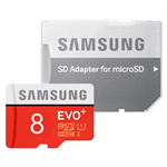 Samsung Evo Plus UHS-I U1 Class 10 80MBps microSDHC With Adapter - 8GB