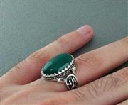 انگشتر عقیق سبز مردانه یا فاطمه _کد:۱۵۴۶۸