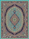 فرش 1000 شانه نقشه رابین آبی الماسی