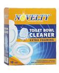 Novelty قرص تمیز کننده توالت فرنگی 10 عددی