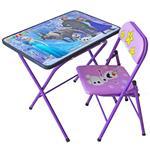 میز و صندلی تحریر تاشو کودک هانیبال مدل فروزن