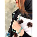 ست بندعینک و دستبند نارین مدل فیروزه ی تبتی