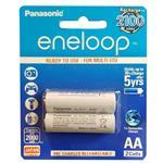 Panasonic Eneloop JAPAN Technology Rechargeable AA Battery Pack Of 2