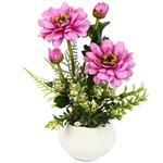 گلدان به همراه گل تزیینی هومز مدل50052