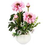 گلدان به همراه گل تزیینی هومز مدل50055