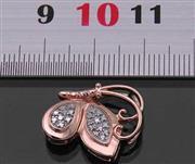 گردنبند الماس زنانه همراه با زنجیر مانی مدل شاپرک _کد:13793