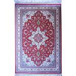فرش ماشینی رادین اصفهان طرح هریس رنگ زمینه گوجه ای