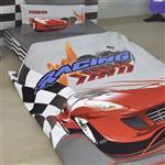 سرویس خواب اورتوم سری پنبه ساتن مدل Racing یک نفره 5 تکه