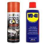 مجموعه 2 عددی اسپری روان کننده و زنگ بر دوپلی کالر مدل Multi oil - WD-40