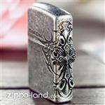 فندک زیپو اصل مدل صلیب روی لبه بدنه آنتیک طراحی ژاپن  Japan Design Zippo Lighter Side Tribal Cross EMB Antique