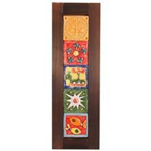 تابلوی پنج سفال عمودی گالری رس  کد 172003