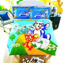Carina Tom and Jerry 1 Person 4 Pieces Bedsheet