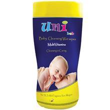 دستمال مرطوب مولتی ویتامین کودک یونی بب سیلندری 54 تایی