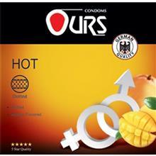 کاندوم خاردار اورز مدل Hot بسته 3 عددي