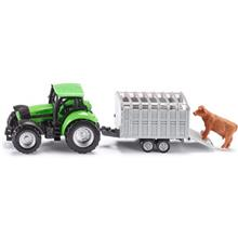 ماشين بازي سيکو مدل Tractor With Livestock Trailer