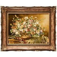 تابلو فرش گالری سیپرشیا طرح گل و گلدان کد901037