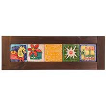 تابلوي گالري رس پنج سفال افقي کد 172004