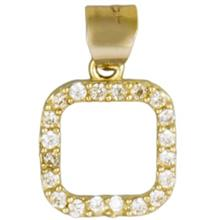 Rosa N010 Gold Necklace Pendant Plaque