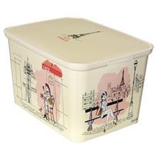 جعبه دکوری لبه دار کرور مدل Miss Paris سایز کوچک