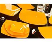 سرویس 25 پارچه غذاخوری شیشه ای آرکوفام مدل 747 کویین نارنجی