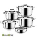 Hascevher Anett 9 Pieces Cookware Set