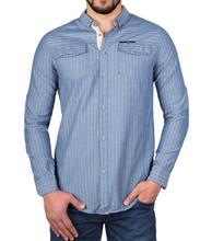 پیراهن اسپرت  نخی مردانه برند RIV/SD آبی